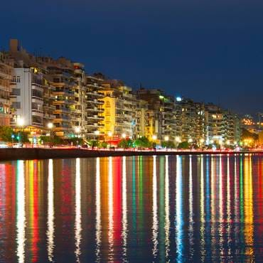Night view of Thessaloniki